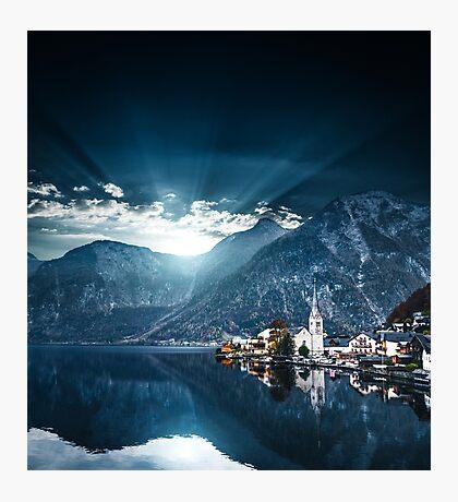 hallstatt in austrian alps Photographic Print