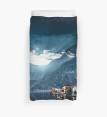 hallstatt in austrian alps Duvet Cover
