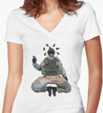 Rainbow 6 Siege - Fuze Tranquility Women's Fitted V-Neck T-Shirt