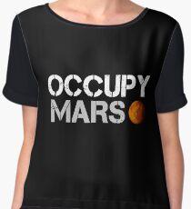 elon musk occupy mars Women's Chiffon Top
