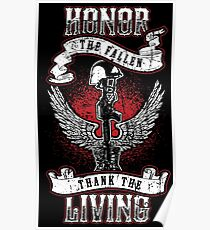 Honor the fallen! Patriotic! USA! Poster
