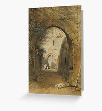 THOMAS MILES RICHARDSON THE YOUNGER (BRITISH )PRUDHOE CASTLE Greeting Card