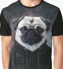 Metal Pug Graphic T-Shirt