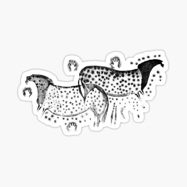 Dappled Horses of Pech Merle Sticker