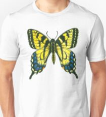 Tiger swallowtail butterfly watercolor and ink art Unisex T-Shirt