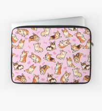 Lovey Corgis in Rosa Laptoptasche
