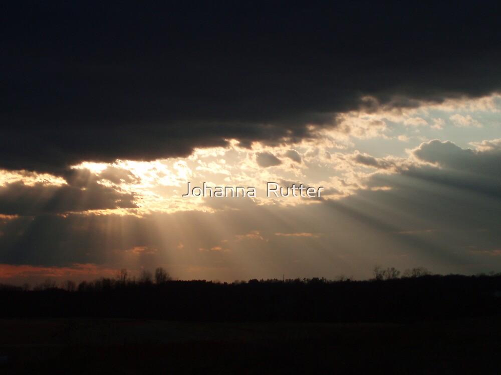 Sun Ray Sunset  by Johanna  Rutter