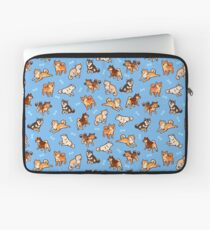 shibes in light blue Laptop Sleeve