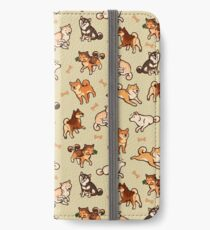 shibes in cream iPhone Wallet/Case/Skin