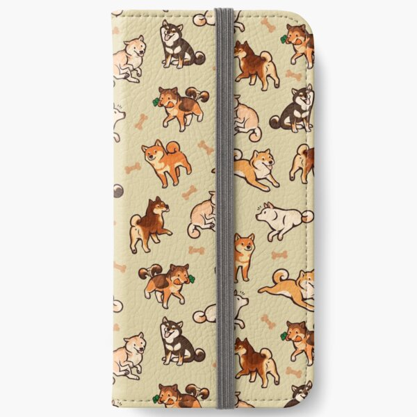 shibes in cream iPhone Wallet