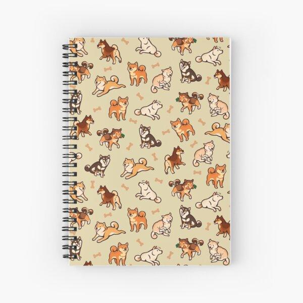 shibes in cream Spiral Notebook