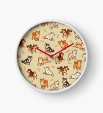 shibes in cream Clock