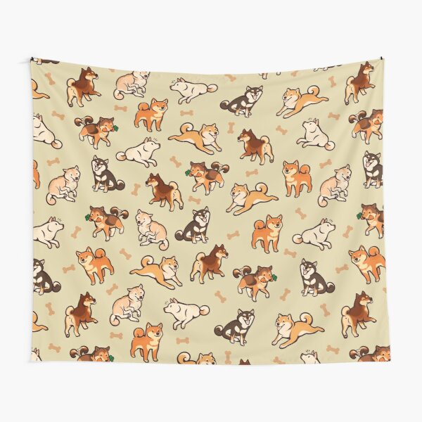shibes in cream Tapestry