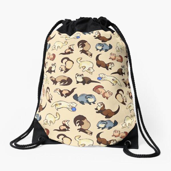 cat snakes Drawstring Bag