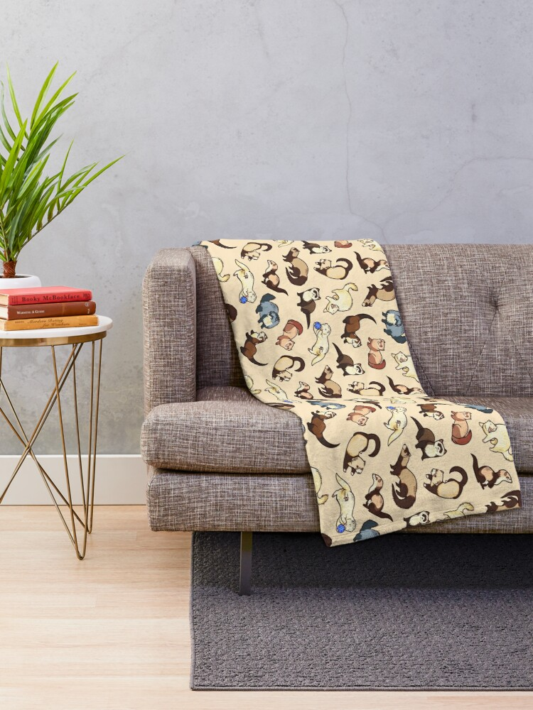 Alternate view of cat snakes Throw Blanket