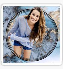 Lea Michele marble - gold Sticker
