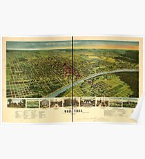 Panoramic Maps Waco Texas 1892 Poster