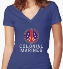 Colonial Marines : Inspired by Aliens Women's Fitted V-Neck T-Shirt