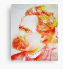FRIEDRICH NIETZSCHE - watercolor portrait.11 Canvas Print