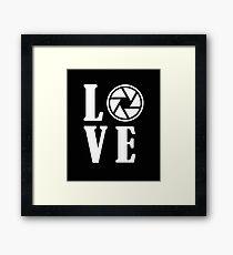 Funny Photographer Design - Love Framed Print