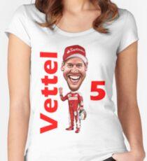 NEW 2017 Sebastian Vettel Women's Fitted Scoop T-Shirt