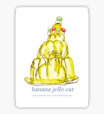 Banana Jello Cat, tony fernandes Sticker