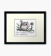 Communist Hamster Framed Print