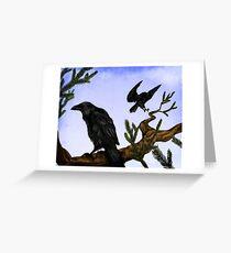 Hugin and Munin Greeting Card