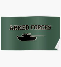 Armed Forces T-shirt Poster