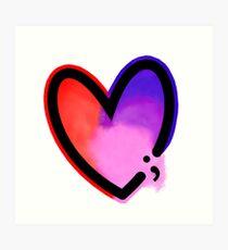 Project semicolon heart ; Art Print