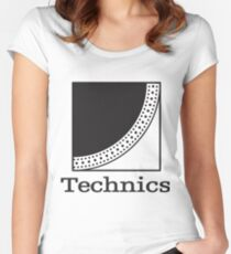 Technics 1200 Women's Fitted Scoop T-Shirt
