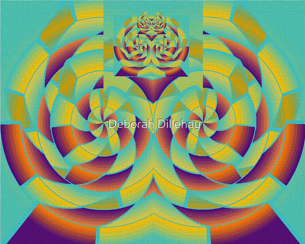 Purple and Orange Ogler by Deborah McCormick