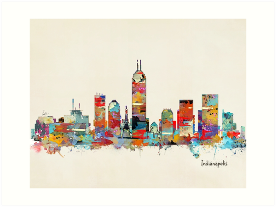 Indianapolis Indiana skyline by bri-b
