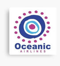 Oceanic Airlines : Inspired by Lost Canvas Print