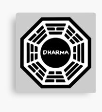 The Dharma Initiative : Inspired by Lost Canvas Print
