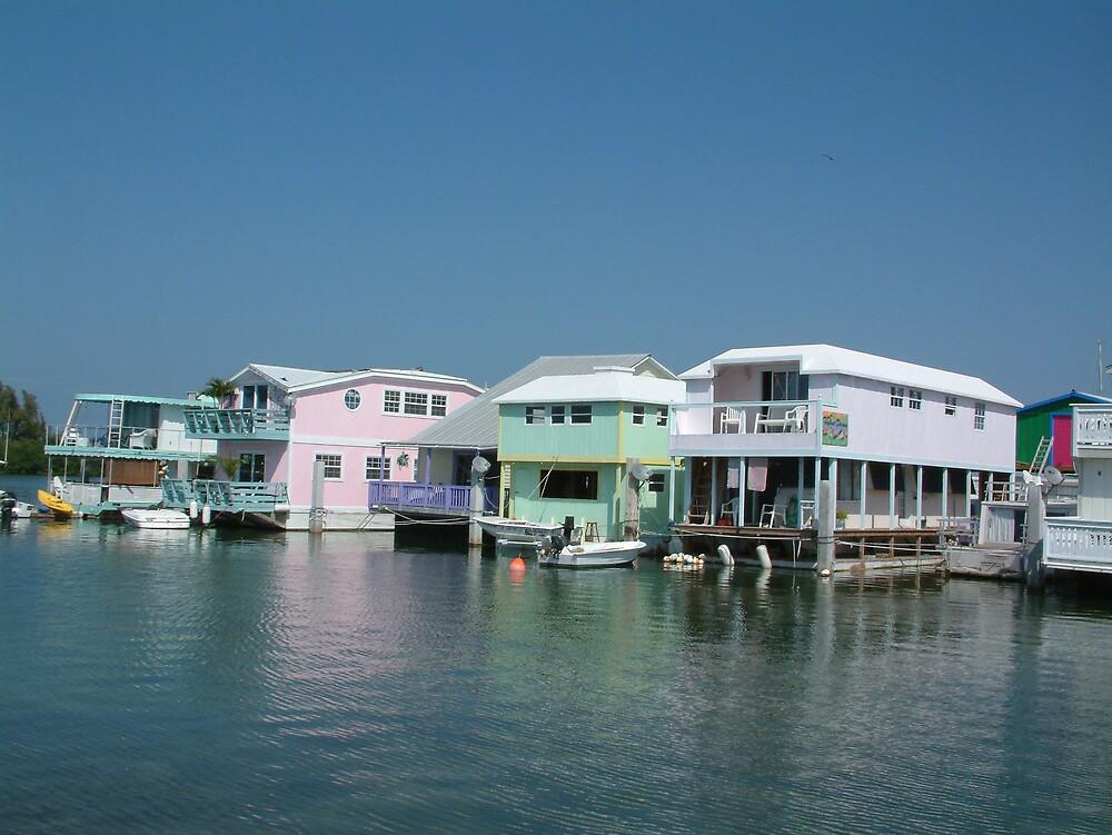 Key West House Boat Row by Cayobo