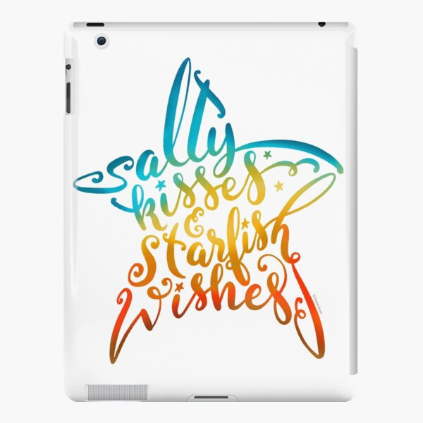 Salty Kisses & Starfish Wishes Hand Lettering Design iPad Snap Case