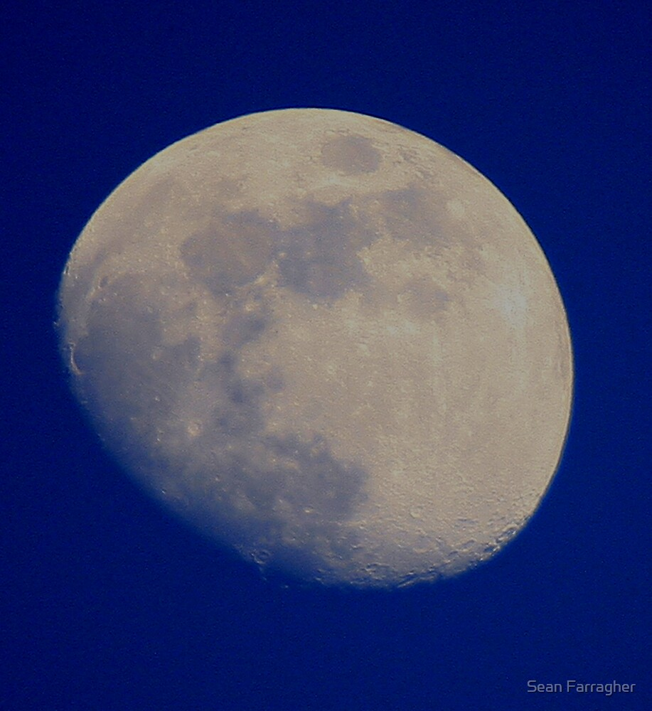 MOON EARLY EVENING by Sean Farragher