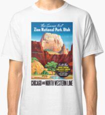 USA Utah Vintage Travel Poster Restored Classic T-Shirt