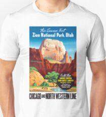 USA Utah Vintage Travel Poster Restored Unisex T-Shirt