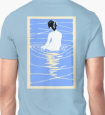 Lady in an Onsen, Naked woman Bathing, Japanese, Japan T-Shirt