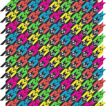 houndstooth skull neon by B0red