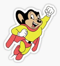 Here He Comes to Save the Day! Sticker