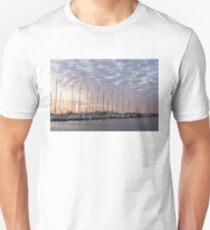 Pink Masts - Soft Marina Sunrise Unisex T-Shirt