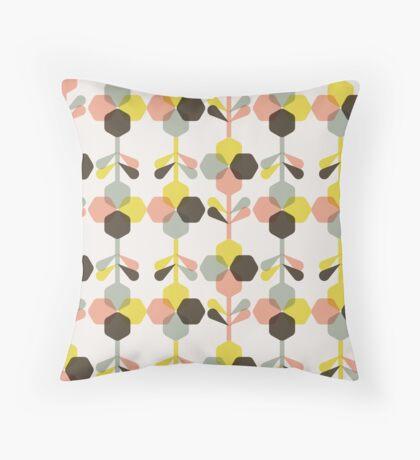 Blooms in blush Throw Pillow
