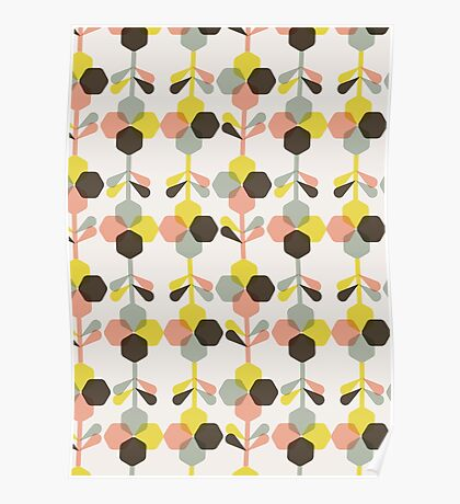Blooms in blush Poster