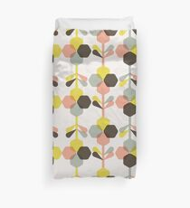 Blooms in blush  // Abstract Pattern Retro Art Duvet Cover