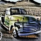 old green truck, route 66, cool springs, arizona by brian gregory