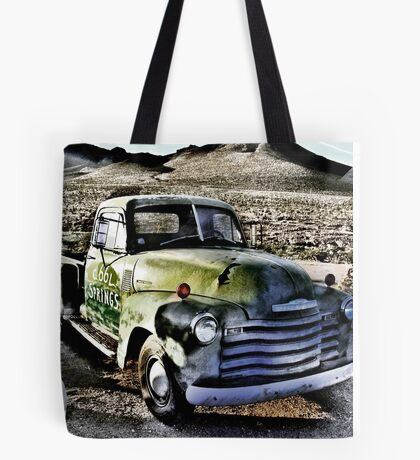 old green truck, route 66, cool springs, arizona Tote Bag