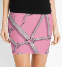Kinky Spiderweb - White/Pink Mini Skirt